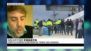 France 24 TV interview of Salvatore Parata, Terre des Hommes - French