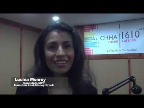 Candidata a parlamento provincial Lucina Monroy visitó CHHA 1610 AM