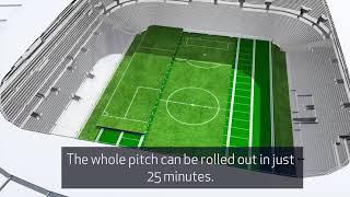 Spurs unveil world's first dividing retractable pitch