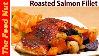 Today I show Oven Roasted Salmon Fillet Recipe. I show how to cook salmon to make vegetarian dinner. This baked seafood recipe yields rich in taste and ...