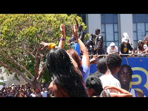 Draymond Green at 2018 Golden State Warriors Championship Parade