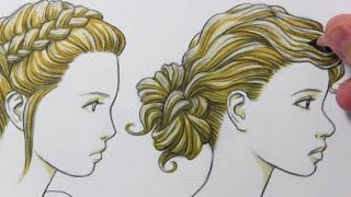 "Drawing Time Lapse: ""Updo"" Hairstyles"