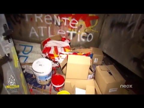 El almacén del Frente Atlético en el Calderón, al descubierto