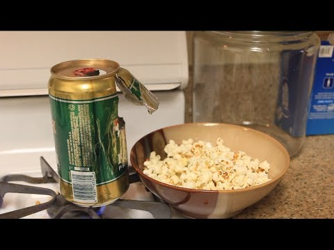 Making Popcorn in Beer Cans – Video by Crazy Russian Hacker