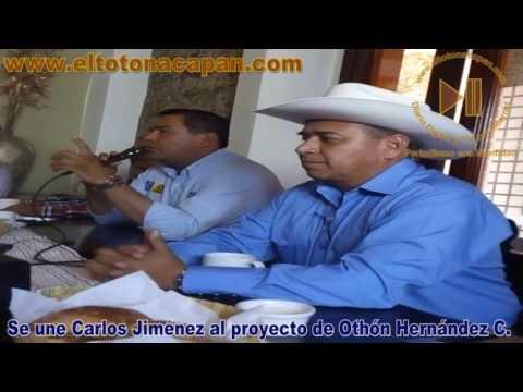 Se une Carlos Jiménez al proyecto de Othón Hernández C