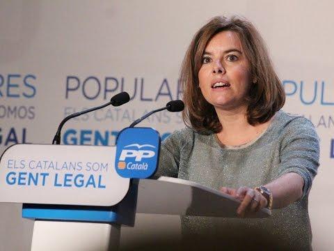 Sáenz de Santamaría: El Gobierno cree en una Cataluña real y legal