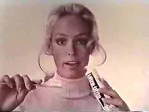 sideshowcarny - An Ultra Brite toothpaste TV commercial from the 1970s featuring Farrah Fawcett.