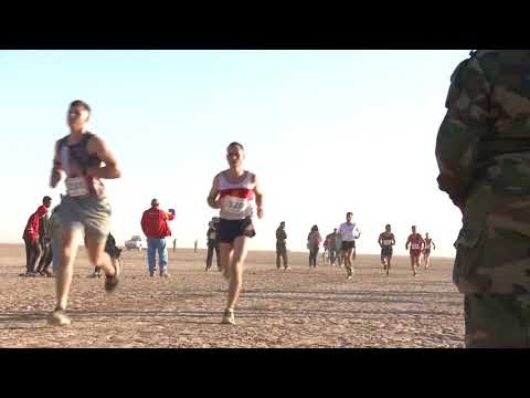 More then 250 U.S. service members onboard Camp Lemonnier in Djibouti, Africa, joined approximately 2,500 military and civilian runners at the 35th annual 15K Grand Bara Race in the Grand Bara desert, Dec. 14th, 2017. Delegates from France, Djibouti, U.S., China, Italy, Spain and others participated in the race hosted by the Djiboutian government and French military.