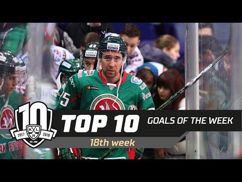17/18 KHL Top 10 Goals for Week 18 (видео)