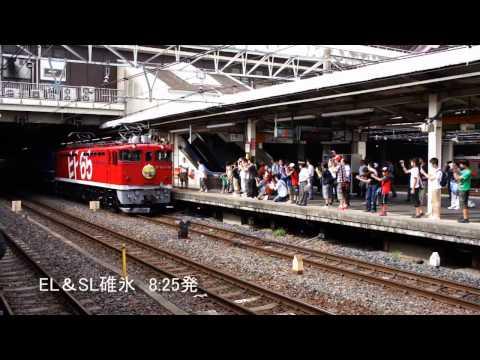 JR大宮駅を発車する臨時特急・快速列車(そよかぜ・ELSL・ラベンダー)