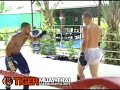 Muay Thai sparring with Alan Belcher at Tiger Muay Thai