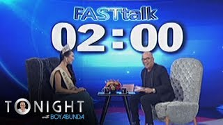 """Miss Philippines Earth 2017 Karen Ibasco is asked to complete the statement, """"I am Karen Ibasco and I am..."""" and she says """"and I am a woman of the earth.""""Subscribe to ABS-CBN Entertainment channel! -http://bit.ly/ABS-CBNEntertainmentWatch the full episodes of Tonight With Boy Abunda on TFC.TVhttp://bit.ly/TonightWithBoyAbunda-TFCTVand on IWANT.TV for Philippine viewers, click:http://bit.ly/TonightWithBoyAbunda-IWANTvVisit our official website!http://entertainment.abs-cbn.com/tv/shows/tonightwithboyabunda/mainhttp://www.push.com.phFacebook:http://www.facebook.com/ABSCBNnetworkTwitter:https://twitter.com/ABSCBNhttps://twitter.com/abscbndotcomInstagram:http://instagram.com/abscbnonline"""