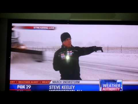 Reporter gets PLOWED!!!!!!! (In the snow...)