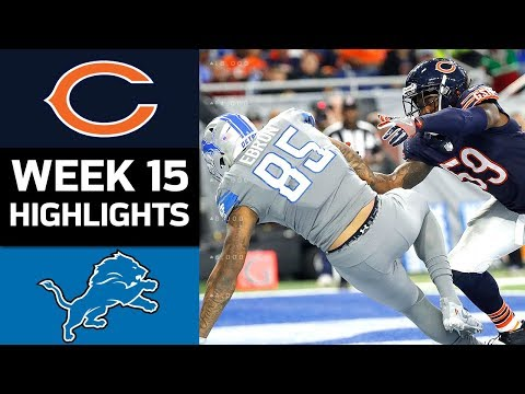 Bears vs. Lions | NFL Week 15 Game Highlights (видео)