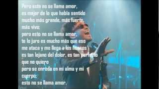 Andres Cepeda Esto no se llama amor Letra YouTube