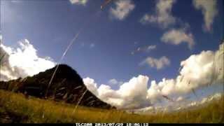 Timelapse du ciel devant le Gerbier de Jonc le 29/07/2013