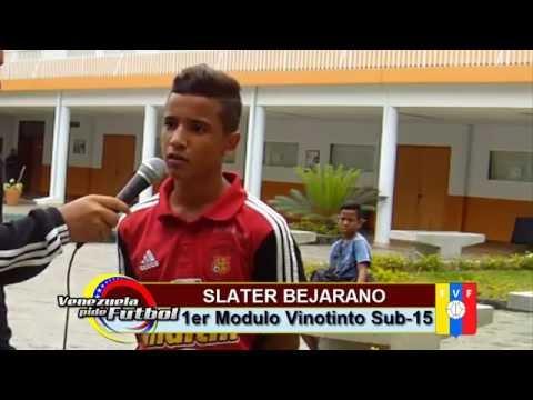 Slater Bejarano (Primer Modulo de la Vinotinto Sub-15)