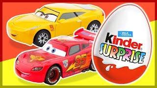 """Киндер Сюрприз. ТАЧКИ 3. Cars 3. Kinder Surprise Eggs unboxing.Давайте вместе откроем красивые Киндеры (Kinder Surprise eggs) и соберем целую коллекцию любимых персонажей из мультфильма Тачки 3 (Cars 3). Какие игрушки нам попадутся? Молния Маквин, Круз, Чико, Джексон Шторми и другие тачки могут оказаться внутри Киндеров. Наша группа ВК """"Каляка-Маляка"""" http://vk.com/kmmult"""