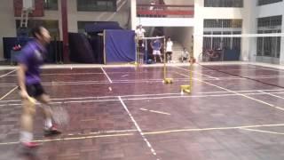 Nguyễn Tiến Minh giao lưu cầu lông tại Đại Học Sư Phạm