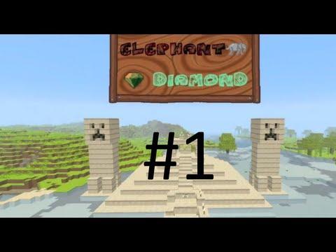 Minecraft Custom Map: Elefant Diamanten - Del 1