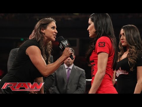 stephanie - Things take a turn for the worst during the Brie Bella vs. Stephanie McMahon SummerSlam contract signing.