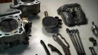 8. Suzuki DRZ 400 Top End Piston Cylinder Cams