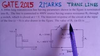 Video Solution to GATE 2015 Problem - Transmission Lines - Electromagnetics