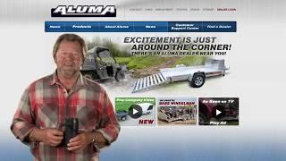 7. Aluma 7712H Utility Trailer