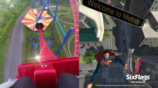 SUPERMAN™ The Ride Virtual Reality Coaster Split Screen