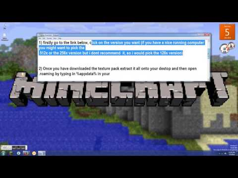 Minecraft How to install Sphax PureBDcraft texture pack 1.7.10 W/MrSmackChicken