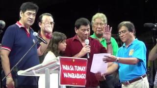 Rodrigo Duterte takes oath as new PDP-Laban Chair