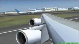One Two GO by Orient Thai Airlines B747-146B/SR/SUD [HS-UTM] Landing Tokyo Narita Intl.Airport RJAA (ex-JAL 747-100SR)