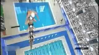 25 Japanese Men Jump into a Swimming Pool
