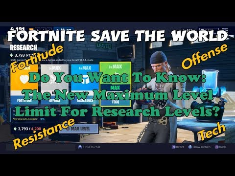 67b) Fortnite Save The World - Fortitude, Offense, Resistance & Tech New Max Level!!!