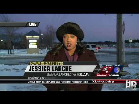 Jessica Larche NewsChannel 3 Blizzard Coverage