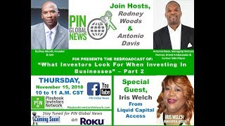 PIN GLOBAL NEWS - What Investors Look for When Investing in Businesses Pt 2