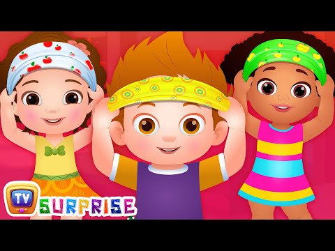 Head, Shoulder, Knees & Toes - ChuChu TV Surprise Eggs Learning Videos