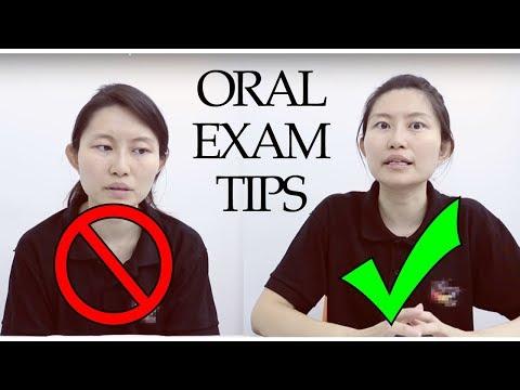 ENGLISH - Oral Examination Tips