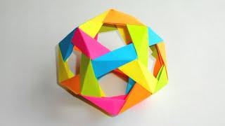 Додекаэдр из бумаги. Оригами Многогранник из бумаги