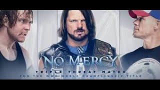 WWE No Mercy 2016 WHC AJ Styles vs Dean Ambrose vs John Cena 2K16 Simulation