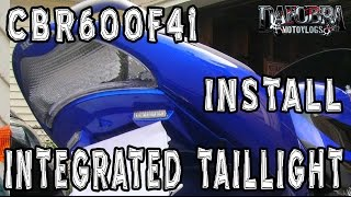 7. Honda CBR600F4i Clear Alternatives Integrated Sequential Tail Light Install F4i F4