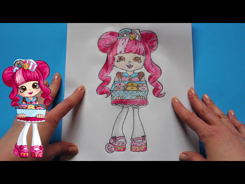 How to draw shopkins shoppies dolls quot donatina quot step by step toy