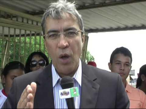 Marcelo Déda em Aracaju mandando mensagem para Arauá-SE