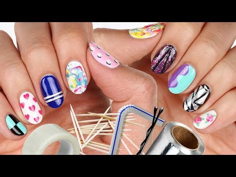 10 Nail Art Designs Using HOUSEHOLD ITEMS!  The Ultimate Guide #5