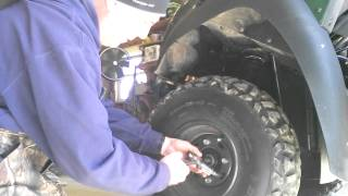 5. Brake hub removal on kawasaki mule 610