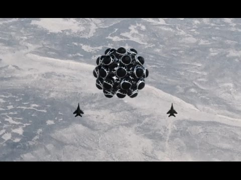 omg: fighter jets escort huge unknown object! real video!