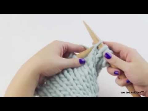 Stricken lernen : Glatt rechts stricken