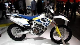 10. 2014 Husqvarna FE 501 Walkaround - 2013 EICMA Milan Motorcycle Exhibition
