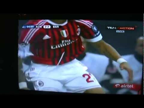 UEFA Champions League – AC Milan V/S FC Barcelona 24/11/2011 : Boateng Goal