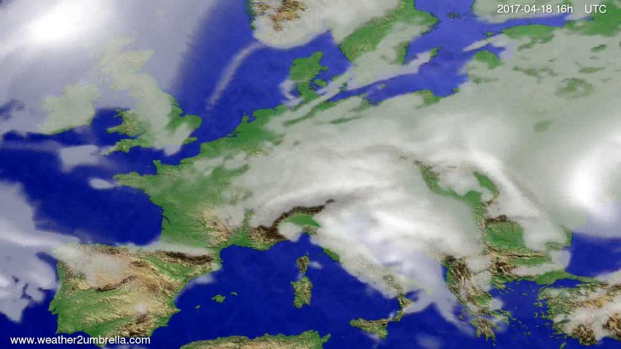 Cloud forecast Europe 2017-04-15
